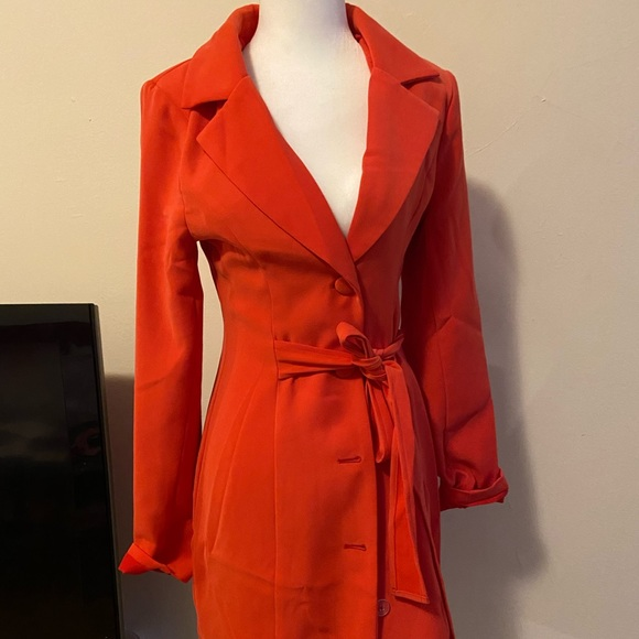 Blazer dress coral color